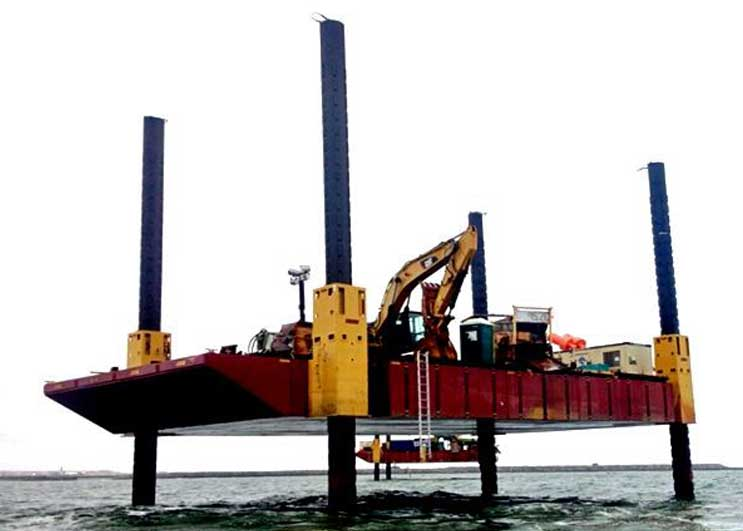 100-tonne Flexi-float Modular Jack Up Barge