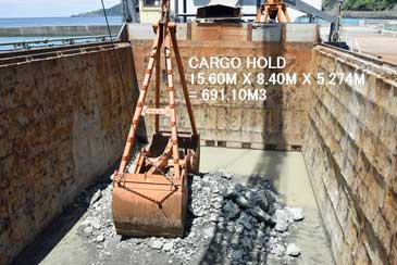 691 m3 Sand Carrier with Sand Dredging Pump and 3.5 m Clamshell