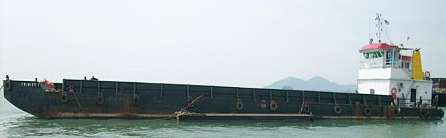 46.08 m x 14.83 m Self Propelled Deck barge with Ramp